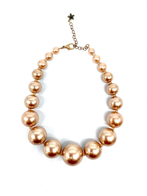 "Graduated ""Pearl"" Bead Necklace"