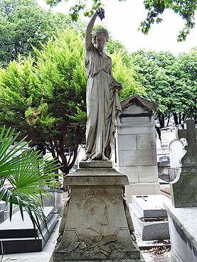 La tombe de l'écrivain Henri Murger au c
