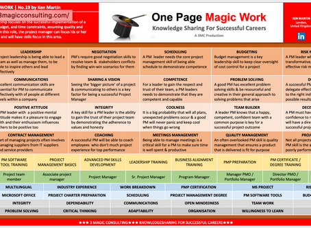 No.19 - ONE PAGE MAGIC: PROJECT MANAGEMENT SKILLS WITH A FOCUS ON LEADERSHIP