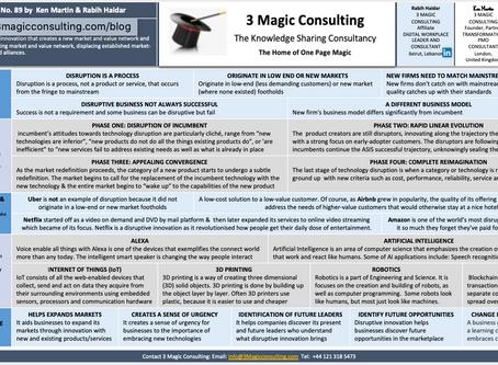 No.89 -ONE PAGE MAGIC: DISRUPTIVE INNOVATION