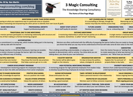 No.92 - ONE PAGE MAGIC: OVERVIEW OF MENTORING