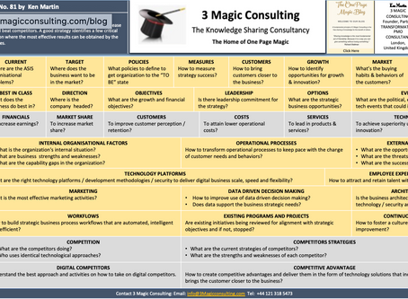 No.81 - ONE PAGE MAGIC: OVERVIEW OF STRATEGY CONSIDERATIONS