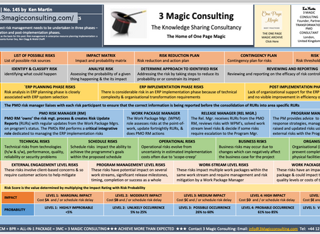 No.145 - ONE PAGE MAGIC - ★ERP IMPLEMENTATIONS RISK MANAGEMENT BEST PRACTICES★