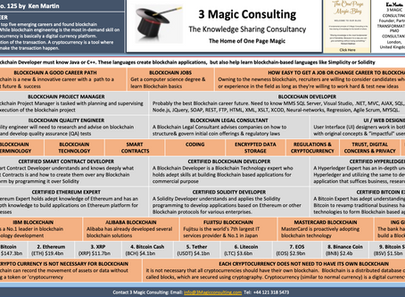 No.125 - ONE-PAGE MAGIC ★BLOCKCHAIN AS A CAREER★