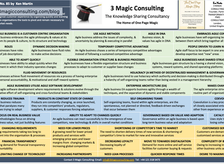 No.85 - ONE PAGE MAGIC: AN OVERVIEW OF BUSINESS AGILITY