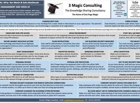No.48 - ONE PAGE MAGIC: CYBERSECURITY RISK MANAGEMENT AND COVID-19
