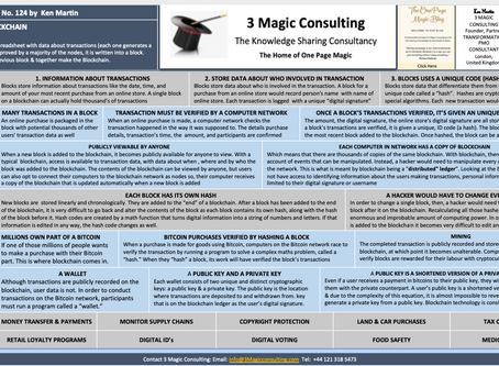 No.124 - ONE PAGE MAGIC: ★OVERVIEW OF BLOCKCHAIN ★