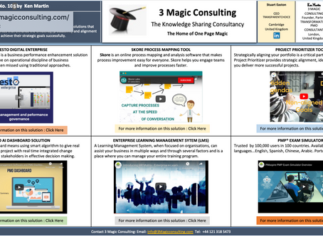 No.105 - ONE PAGE MAGIC: 3 MAGIC CONSULTING SOLUTIONS OVERVIEW