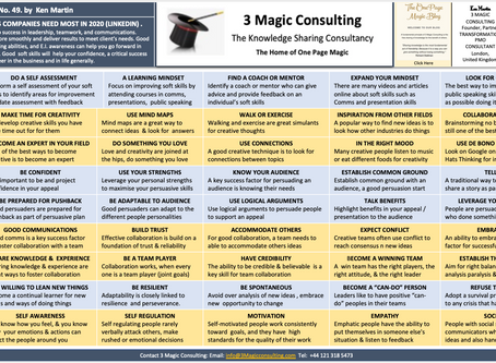 No.49 - ONE PAGE MAGIC: THE TOP 5 SOFT SKILLS COMPANIES NEED MOST IN 2020 (LINKEDIN)