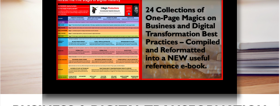 Business & Digital Transformation Best Practices -One Page Magic Gold Vol. 2