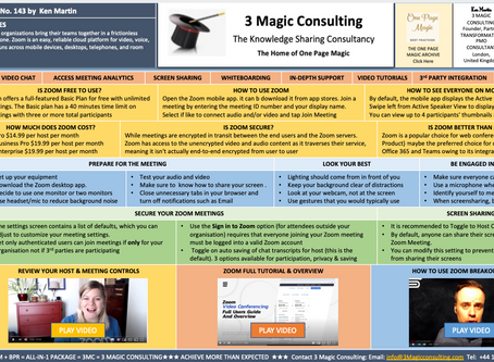 No.143 - ONE PAGE MAGIC - ★ZOOM BEST PRACTICES★