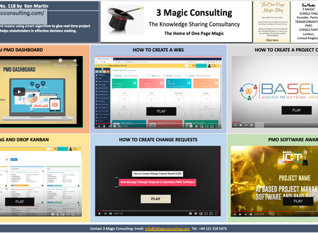 "No.118 - ★ THE ONE PAGE MAGIC ""AI PMO SOFTWARE"" COLLECTION★"