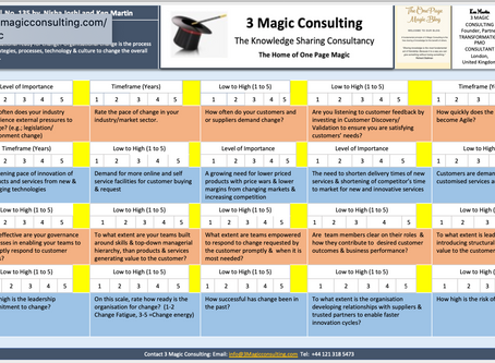 No.135- ONE PAGE MAGIC★ORGANISATION AGILITY SURVEY★