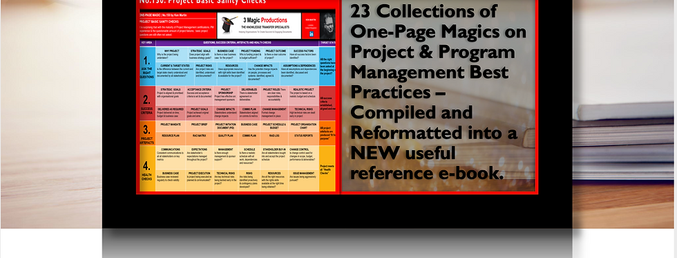 Project and Program Management Best Practices  -One Page Magic Gold Vol. 3