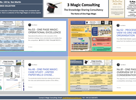 No.132- ONE PAGE MAGIC★OPERATIONAL EXCELLENCE COLLECTION★