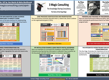No.107 - ONE PAGE MAGIC: BUSINESS TRANSFORMATION OVERVIEW