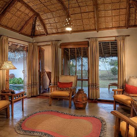 Evolve Back Resorts   Kabini   Jacuzzi Hut   Living Room