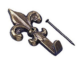 Decorative bronze hooks