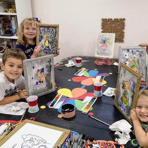 Класс рисования для детей в студии