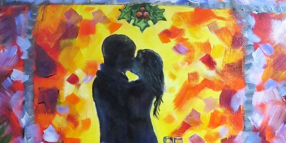 """Let's paint """"Under the mistletoe"""" and sip some tea"""