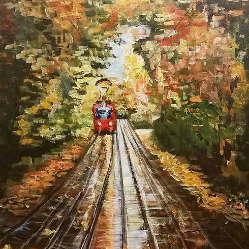 Let's paint Fall Trolley