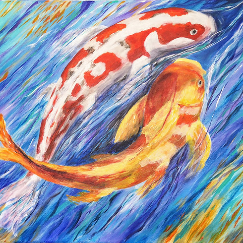 Let's paint Koi Fishes and sip some tea with Anna