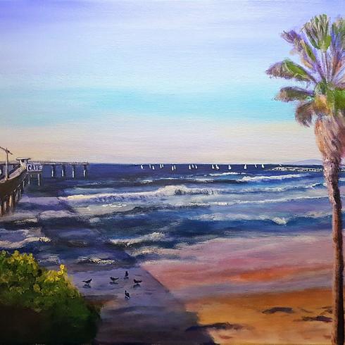 Let's paint Ocean beach pier with Anna (1)