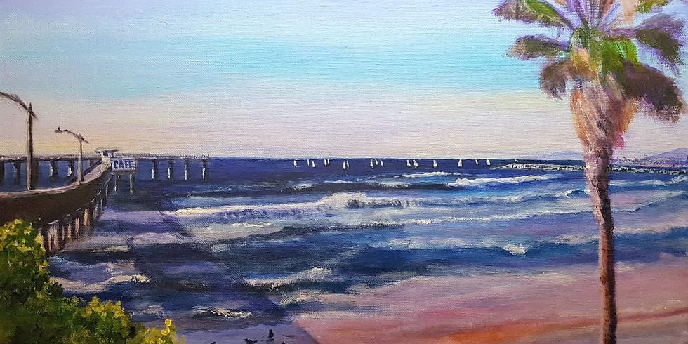 Let's paint Ocean beach pier with Anna