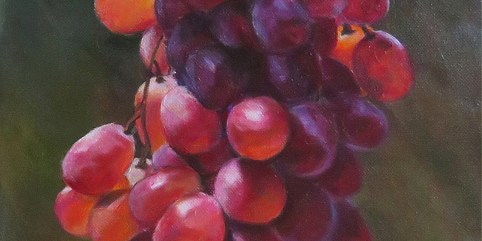 """Acrylic painting two days workshop """"Grape"""""""
