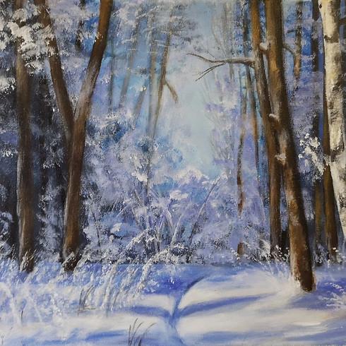 Let's paint Winter Wanderland