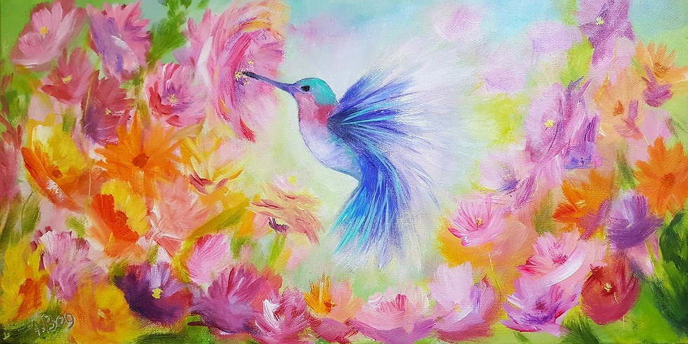 Let's paint Hummingbird