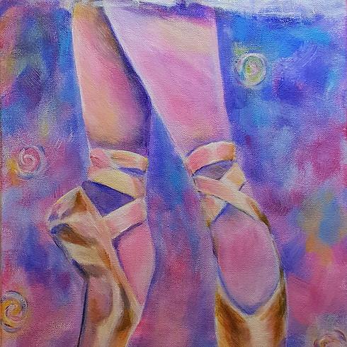 Let's paint Ballet Pointes