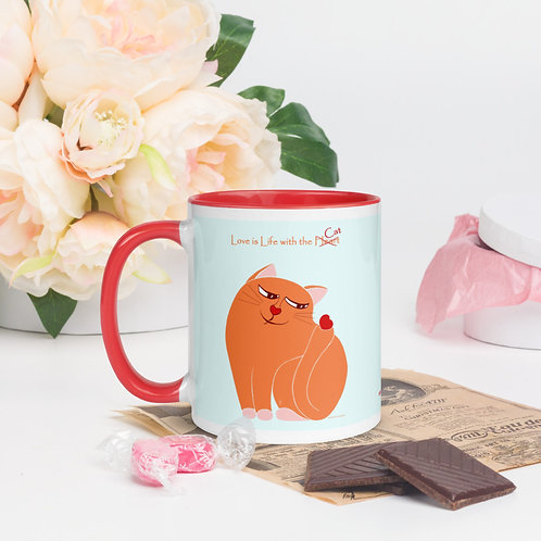 Cat with the Heart Mug