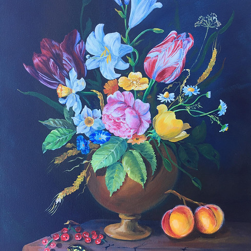 Let's paint Holland still life with Elena