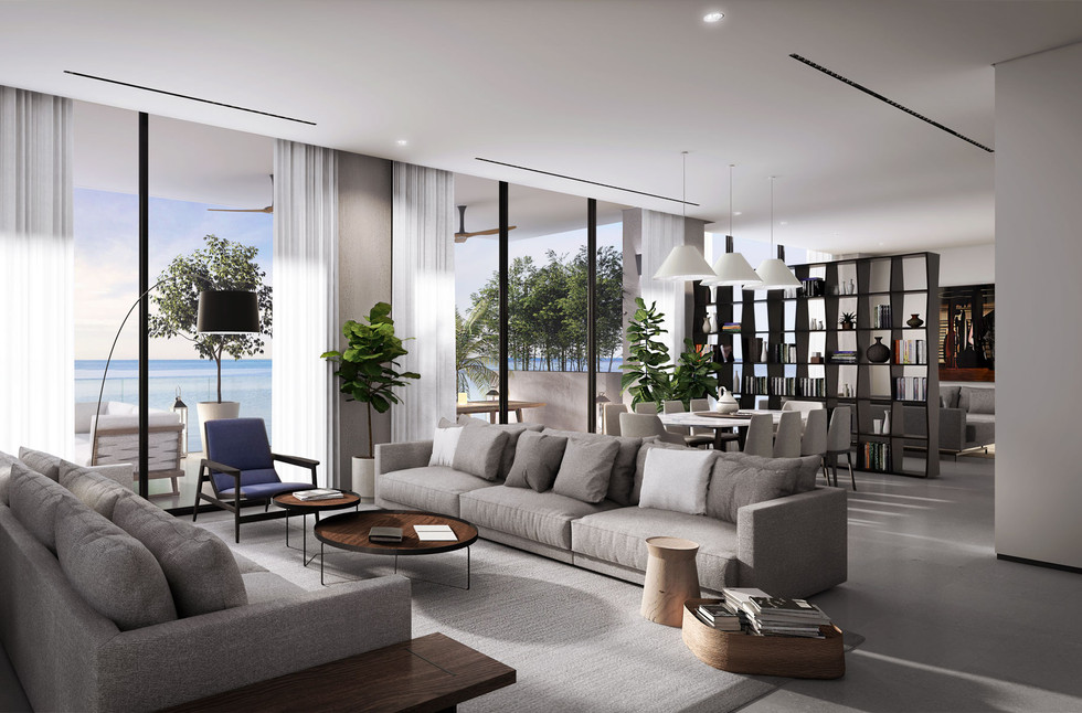 Spacious Interior with High Ceilings