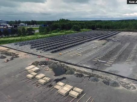YLE: Aurinkopaneeleja 9 jalkapallokentällistä – Atrian aurinkosähköpuisto valmistuu ensi vuonna