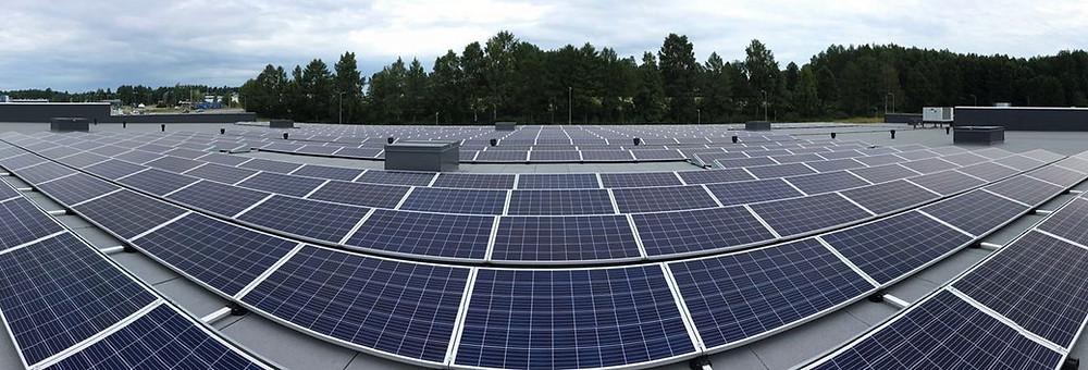 Tokmanni Savonlinnan aurinkovoimala