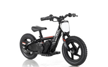"Revvi 12"" Electric Balance Bike - Black"