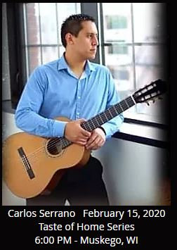 Carlos Serrano Solo Guitar  February 15, 2020       Musical theme: Colombian