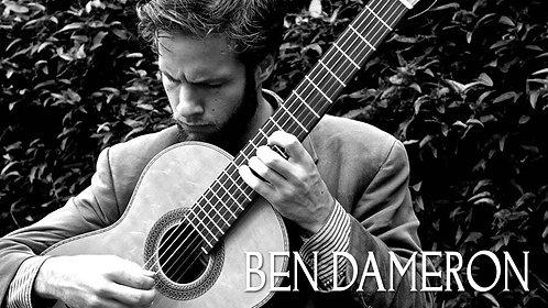 Ben Dameron Solo Guitar  Date: November 7, 2020 7PM Musical theme: Brazilian.