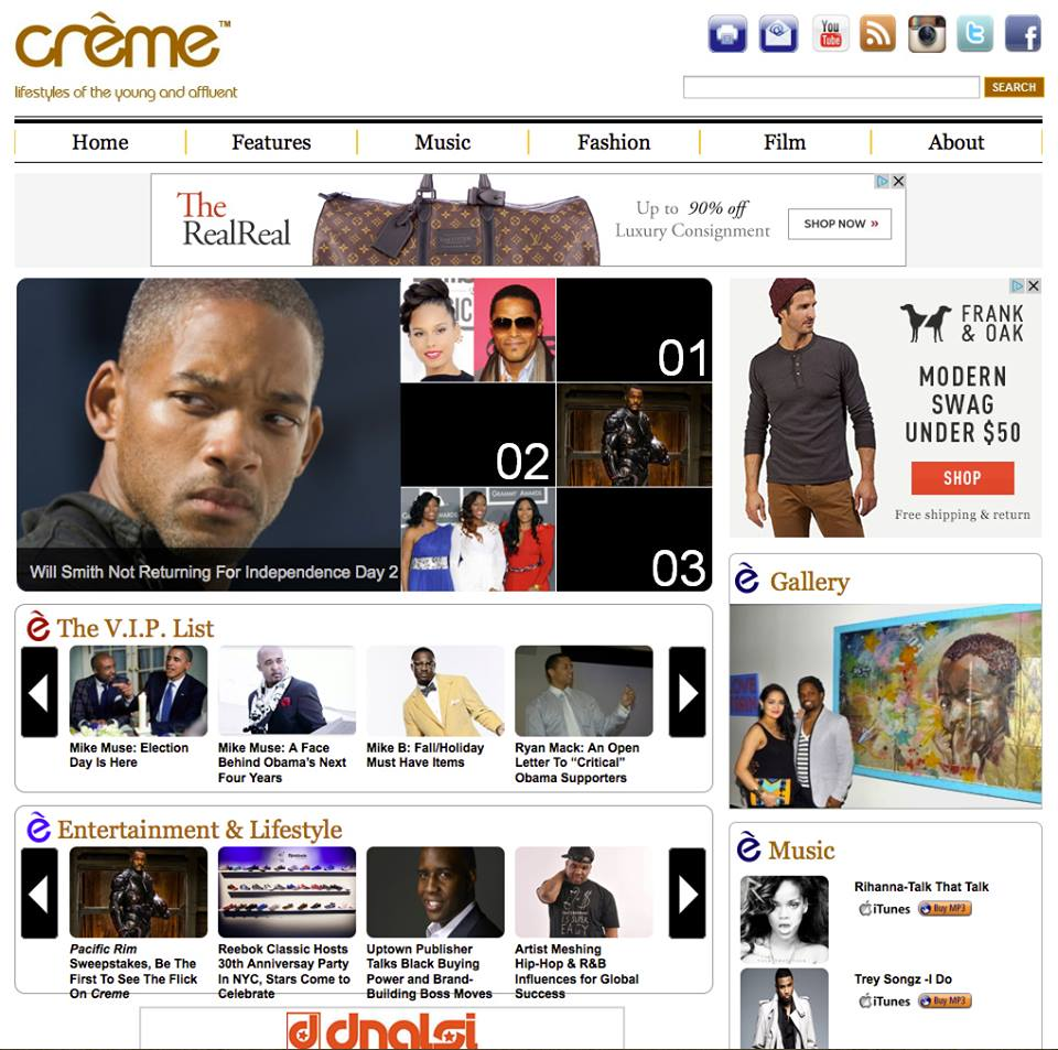 Featured in Creme