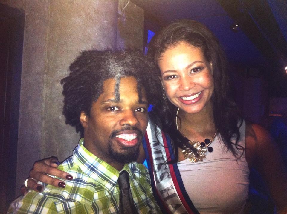 With beauty Anedie Azael Miss Haití