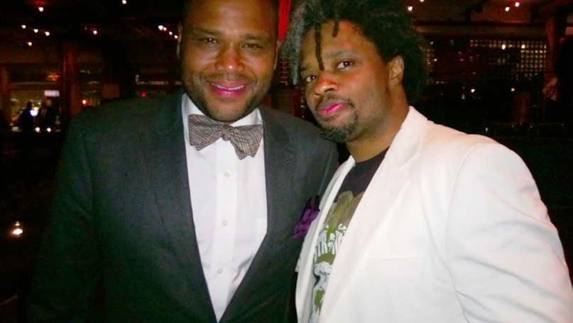 With actor Anthony Anderson