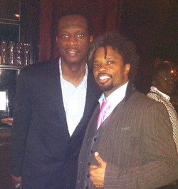 With rapper Pras of the Fugees