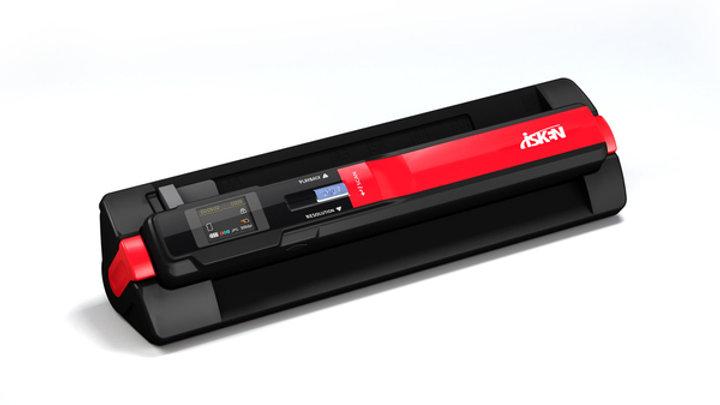 iSken 專業版 900dpi二合一分離式手持隨身掃描器 (型號T4ED)