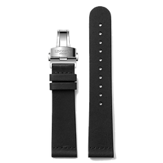 Black Vintage Leather Band - Stainless Steel or Gold Clasp