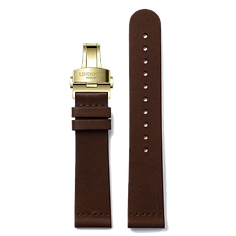 Brown Vintage Leather Band - Stainless Steel or Gold Clasp