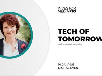 Галя Димитрова, съосновател и управляващ партньор в IRIS SOLUTIONS на форума Tech of Tomorrow