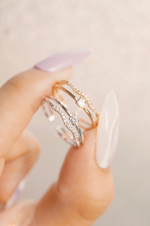 ADJUSTABLE TWO LAYER LISSETE RING