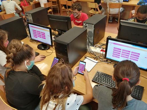 Els alumnes de 6è treballen amb ClickEdu